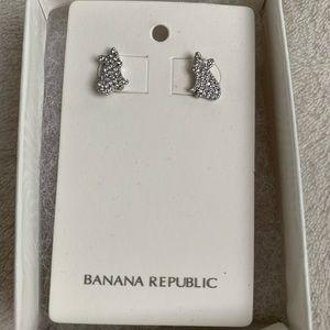 Banana Republic dog earrings